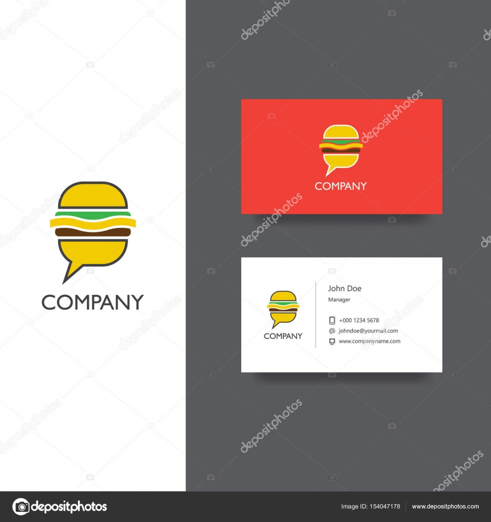 Eat food delivery or restoraunt logo and business card template vector eps logo design for food delivery eat service or restaraunt company business card template icon vector by manjuna colourmoves Choice Image