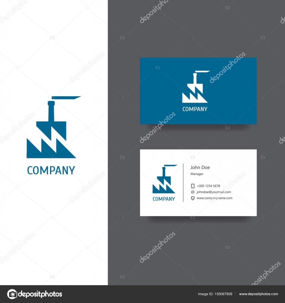 Creation De Logo Vectoriel Eps Pour Usine Ou Batiment Companyy Business Modele Carte Conception Licone Vecteur Par