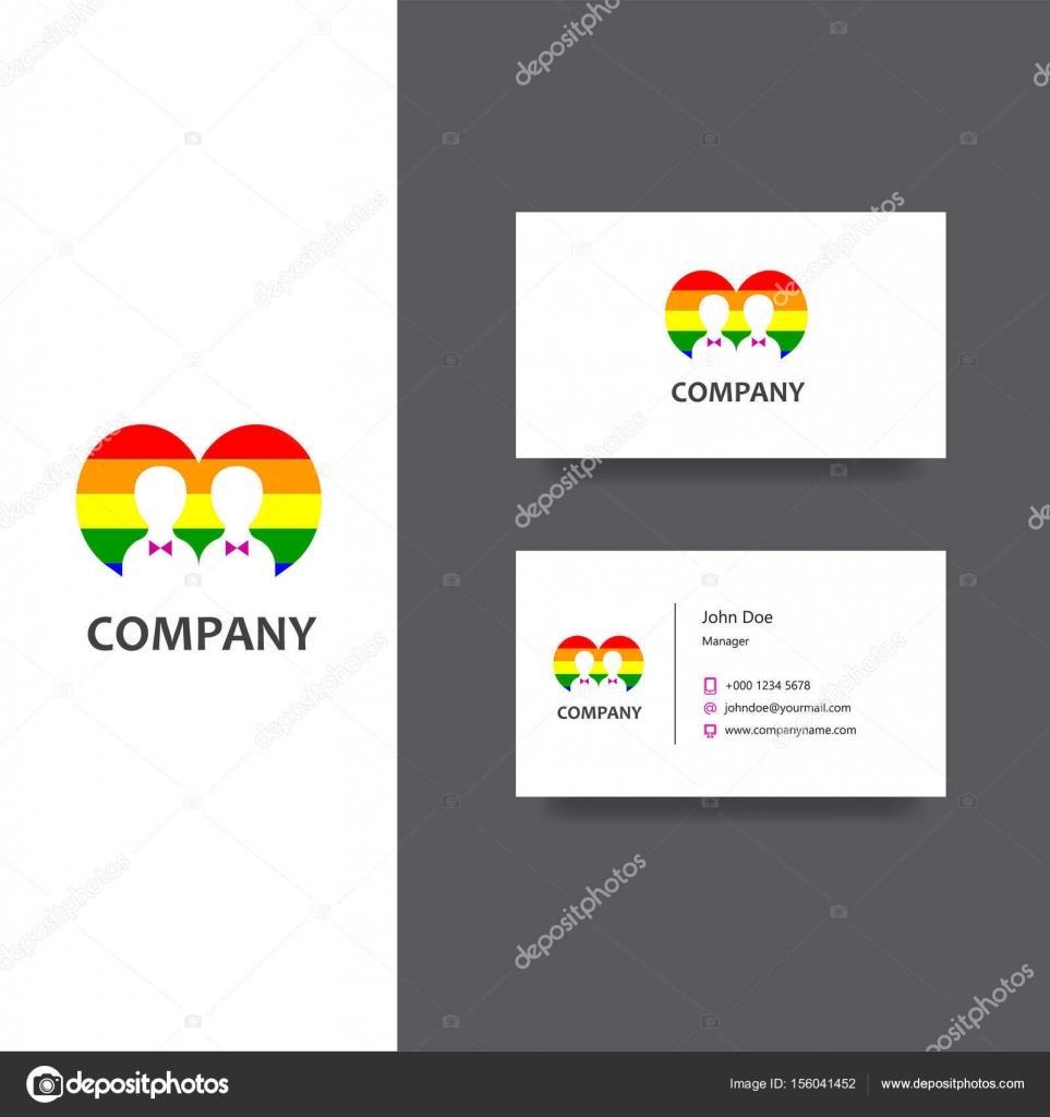 Creation De Logo Eps Vectoriel Pour Gay Communautaire Ou Services Societe Modele Carte Visite Icone Conception Vecteur Par