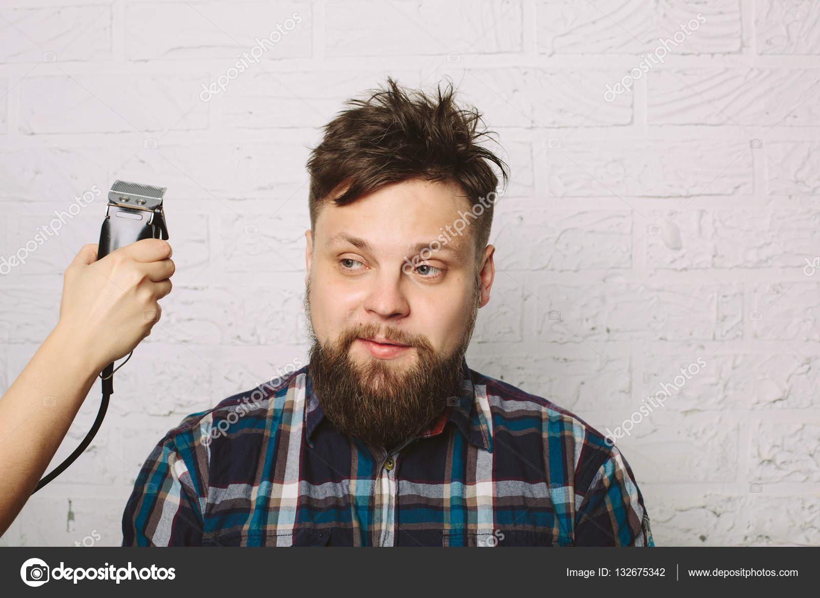 Casual Man In Hair Salon Stock Photo Annatamila 132675342