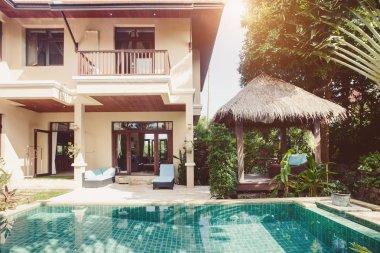 luxury villa with pool outdoor