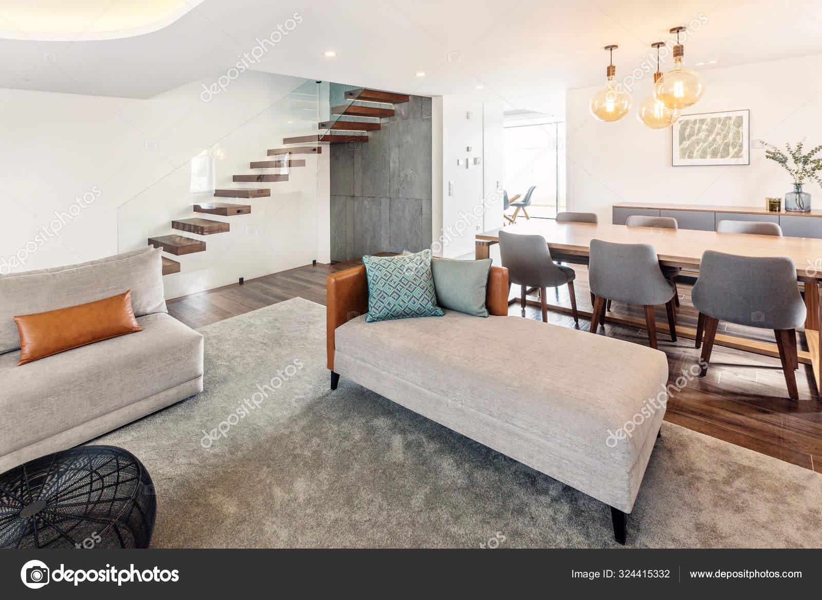 Escalier Interieur Maison Moderne salle séjour design intérieur moderne avec escalier couleurs