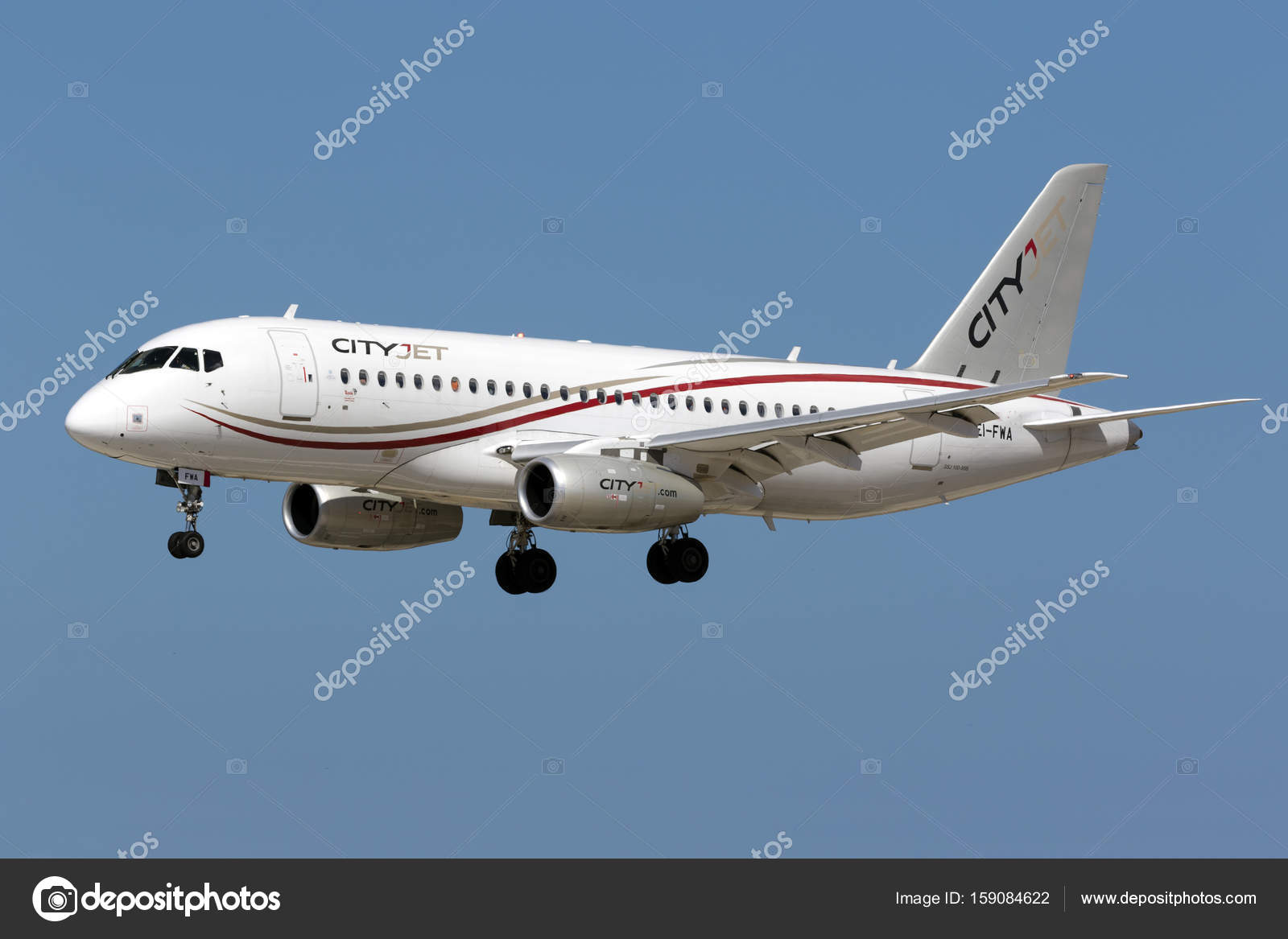 Sukhoi First Commercial Aircraft Design Stock Photo