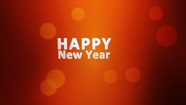 Šťastný nový rok 2017 text s pozadím sluníčko