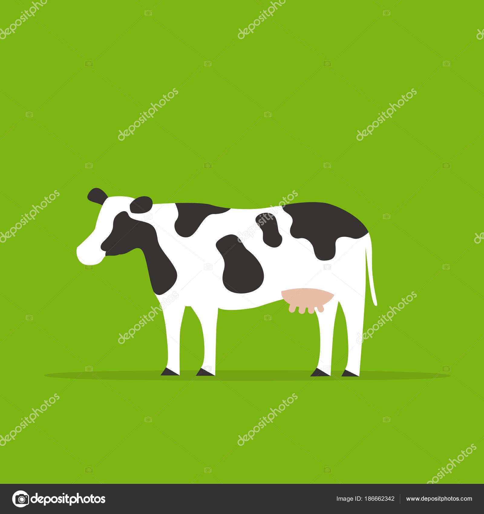 緑の背景 動物イラストの牛 ストックベクター Pubmanhero 186662342