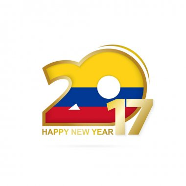 Year 2017 with Colombia Flag pattern.