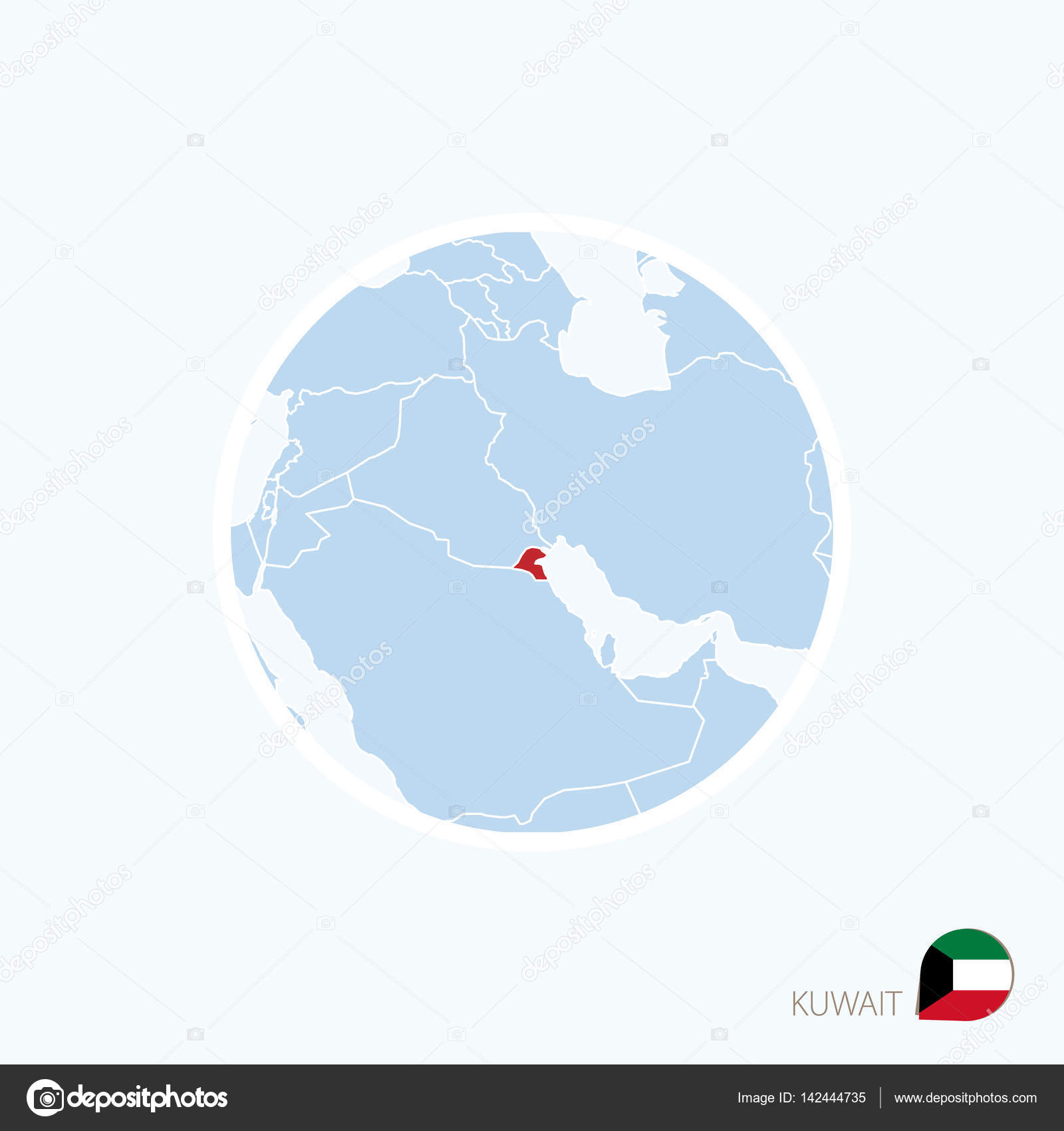 Map icon of kuwait blue map of middle east with highlighted kuwait map icon of kuwait blue map of middle east with highlighted kuwait stock vector gumiabroncs Gallery