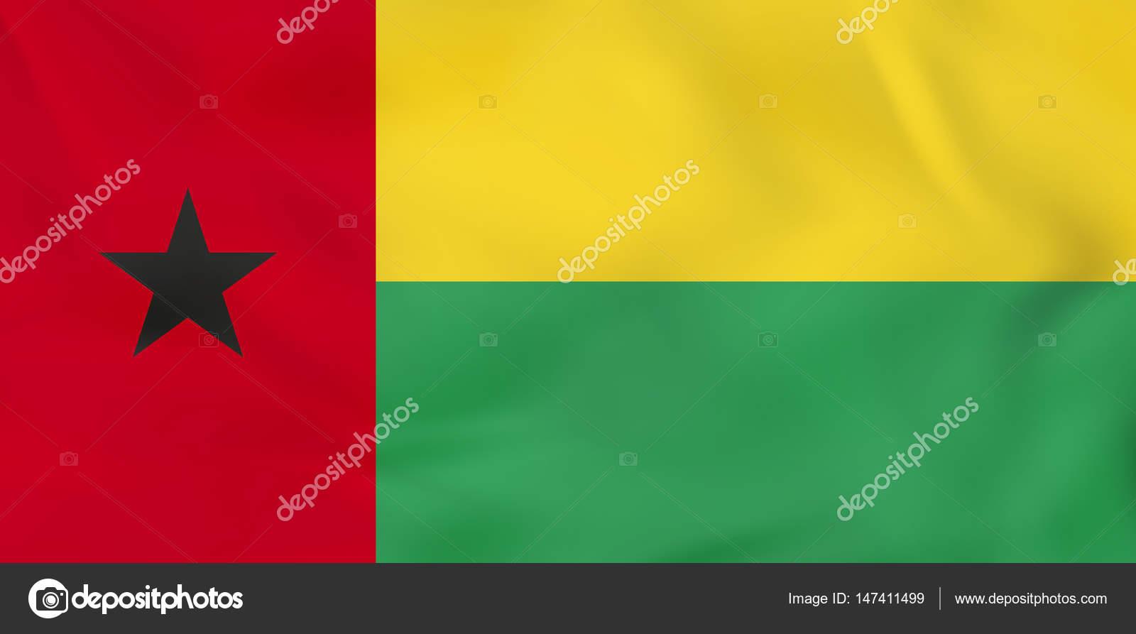 ギニア-ビサウの手を振る旗。ギ...