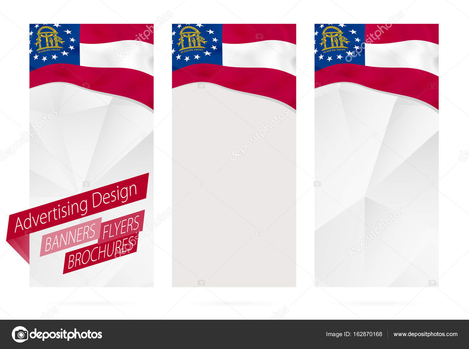 Design Of Banners Flyers Brochures With Georgia State Flag