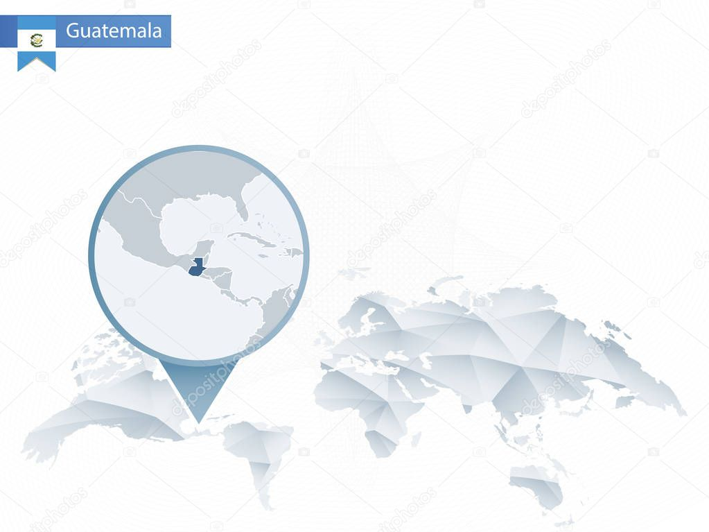 Abstract Rounded World Map With Pinned Detailed Guatemala Map Vector Illustration Premium Vector In Adobe Illustrator Ai Ai Format Encapsulated Postscript Eps Eps Format
