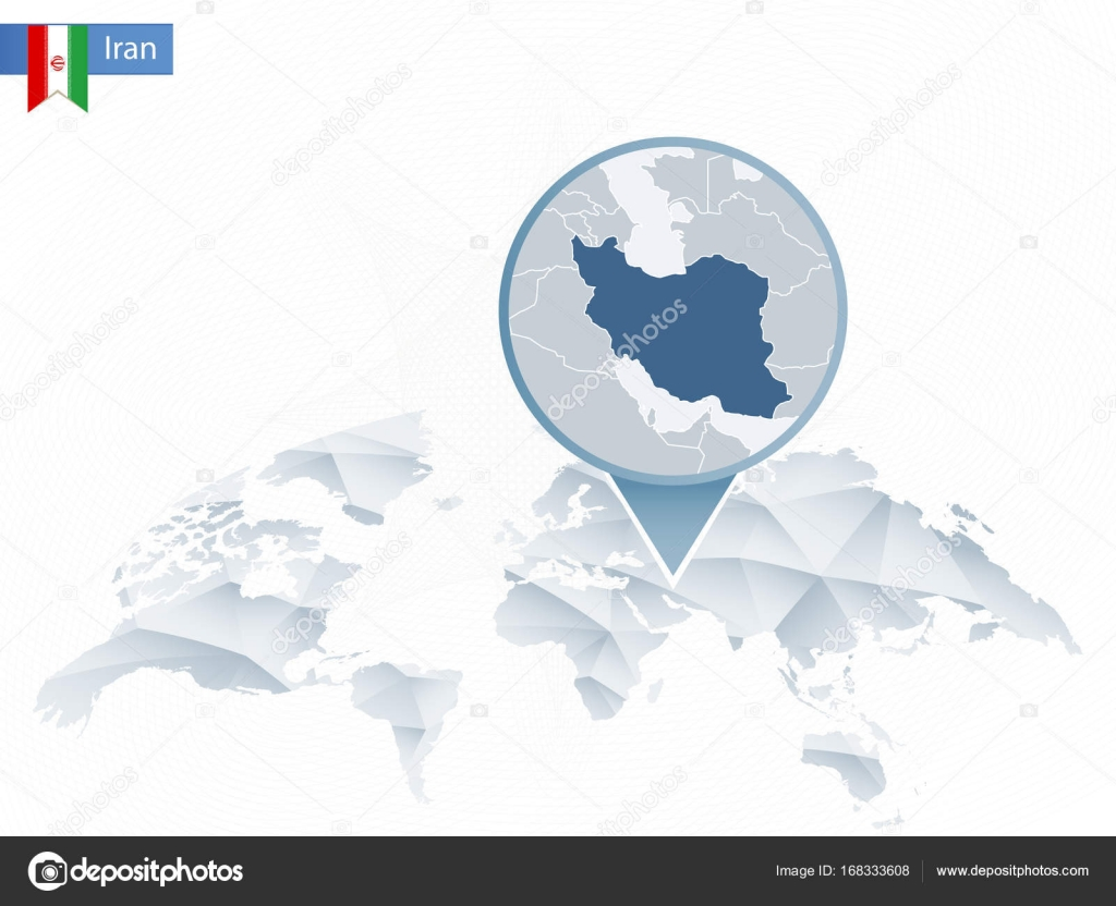 Abstract rounded world map with pinned detailed iran map stock abstract rounded world map with pinned detailed iran map vector illustration vector by boldg gumiabroncs Choice Image