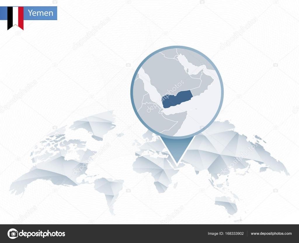 Abstract rounded World Map with pinned detailed Yemen map. — Stock on oman world map, somalia world map, vatican world map, syria world map, ethiopia world map, middle east map, afghanistan world map, sierra leone world map, macau world map, israel world map, saudi arabia world map, ghana world map, sudan world map, vietnam world map, eastern hemisphere world map, mecca world map, iraq world map, azerbaijan world map, united arab emirates world map, india world map,