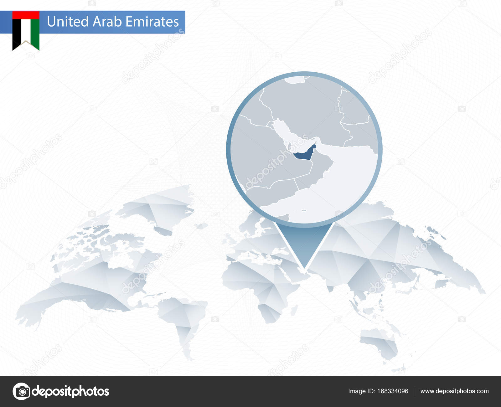 Abstract rounded World Map with pinned detailed United Arab ... on austria world map, slovakia world map, kuwait world map, norway world map, guatemala world map, sierra leone world map, cambodia world map, bahrain world map, uzbekistan world map, iraq world map, sudan world map, china world map, pakistan world map, jordan world map, afghanistan world map, persian gulf map, cyprus world map, arabian sea world map, uganda world map, middle east map,