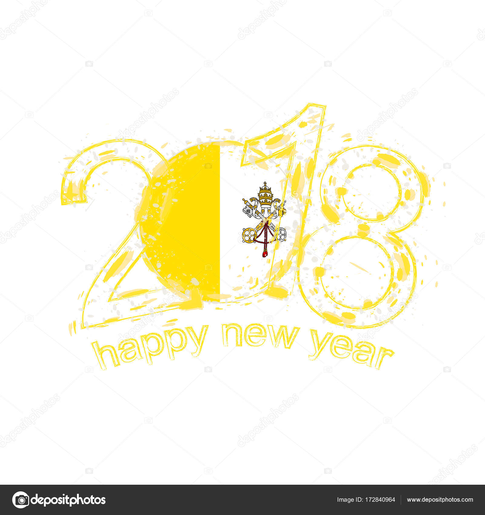 2018 happy new year vatican city grunge vector template for greeting 2018 happy new year vatican city grunge vector template for greeting card calendars 2018 kristyandbryce Images