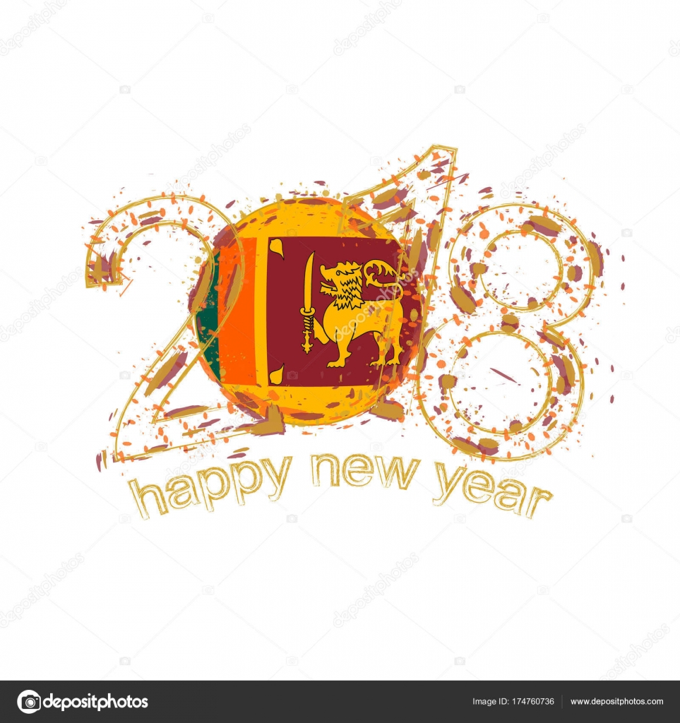 2018 happy new year sri lanka grunge vector template for greeting 2018 happy new year sri lanka grunge vector template for greeting card calendars 2018 seasonal flyers christmas invitations and other vector by boldg m4hsunfo