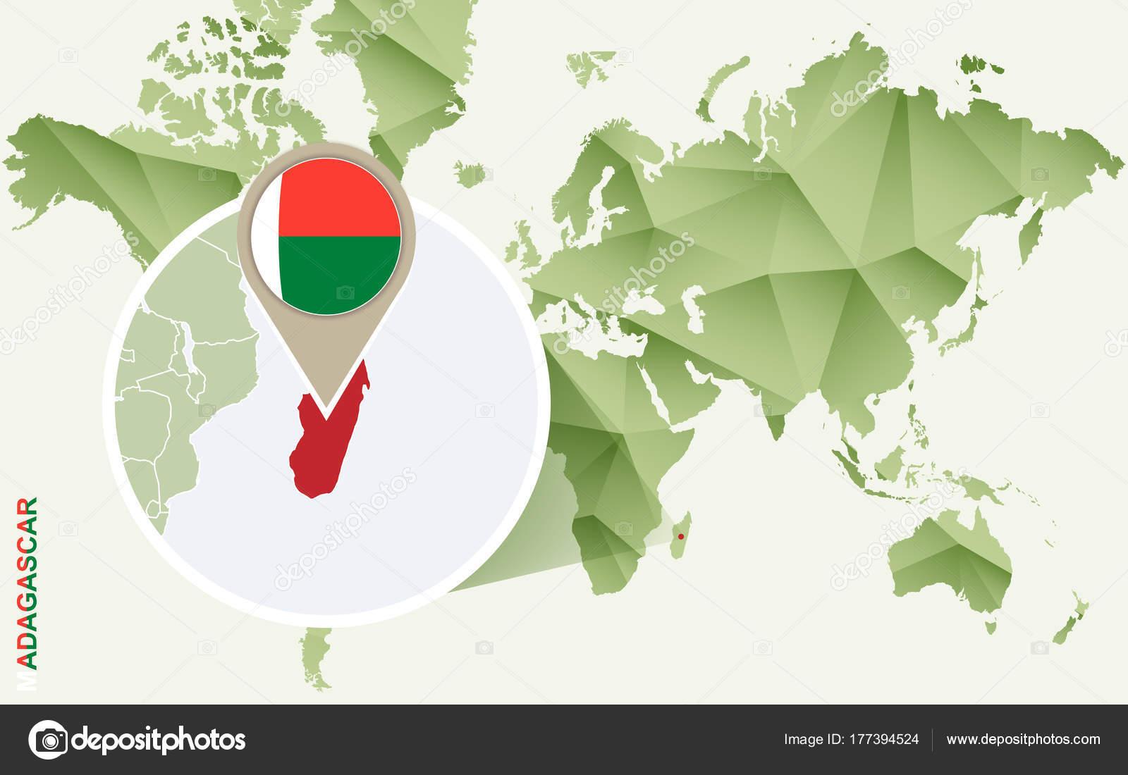 Carte Verte Madagascar.Infographie Pour Madagascar Carte Detaillee De Madagascar