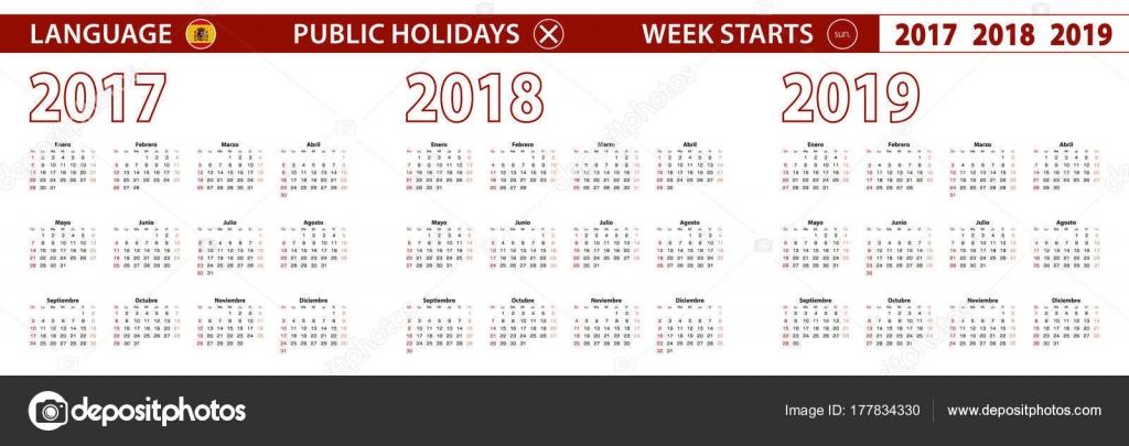 Calendario 2017 Argentina.Calendario 2019 Argentina 2017 2018 2019 Ano Vector