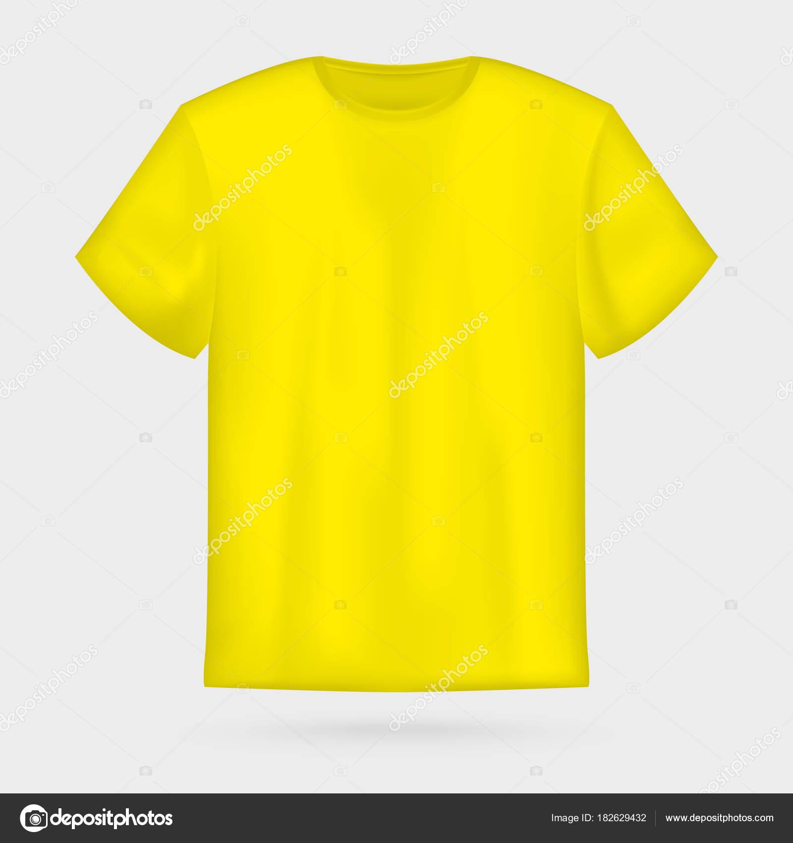 Yellow Vector Men S T Shirt Mockup Stock Vector C Boldg 182629432