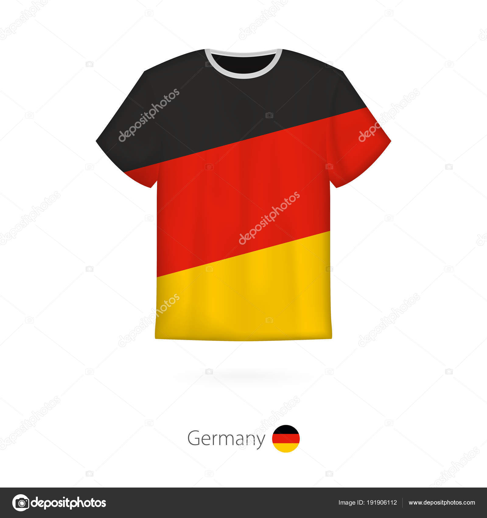 f0002203c01cd Design de camiseta com a bandeira da Alemanha — Vetores de Stock ...