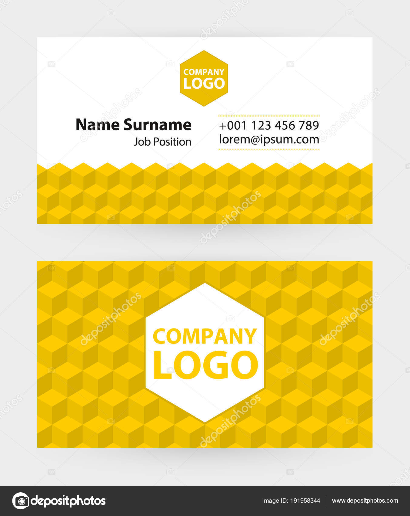 Business card template 9x5 cm size stock vector boldg 191958344 business card template 9x5 cm size vector by boldg reheart Image collections