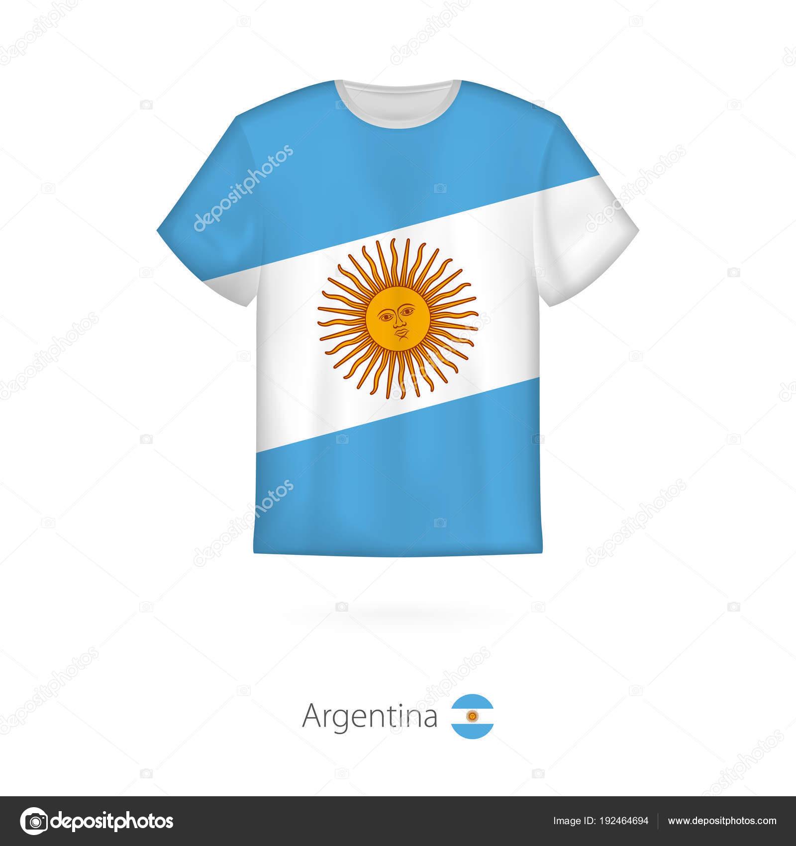 Design De Camiseta Com A Bandeira Da Argentina Vetores De