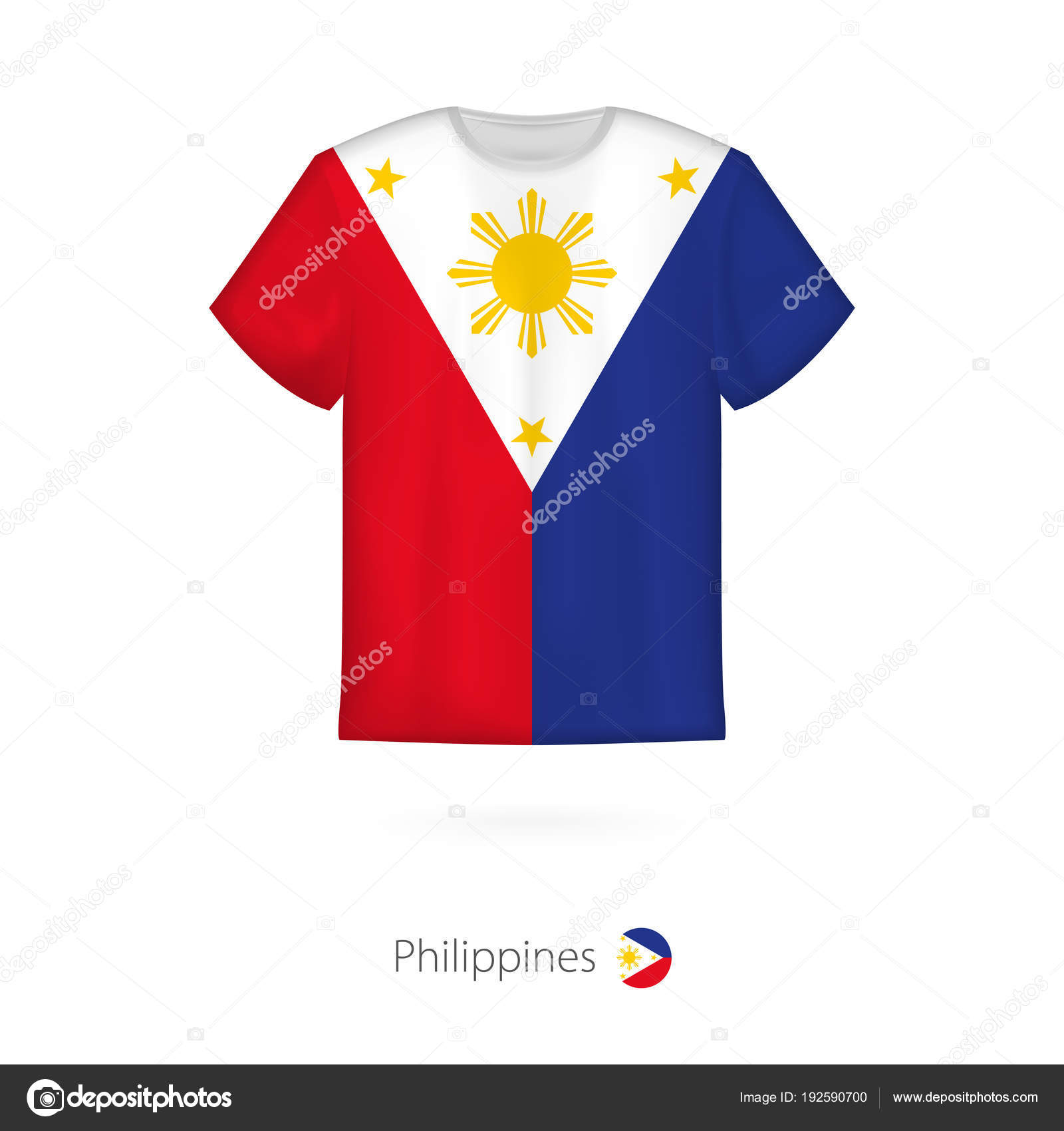 T Shirt Design With Flag Of Philippines Stock Vector Boldg