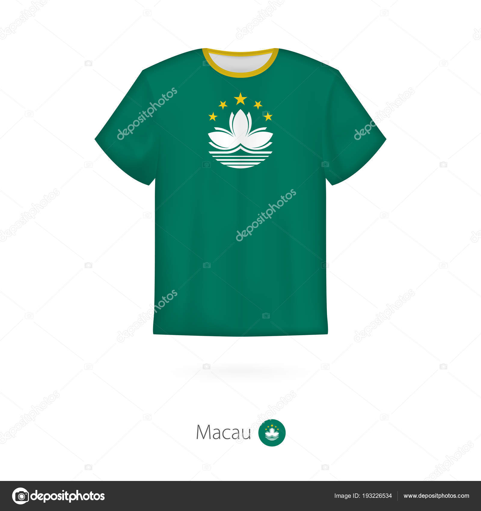 T shirt design with flag of macau stock vector boldg for Stock t shirt designs