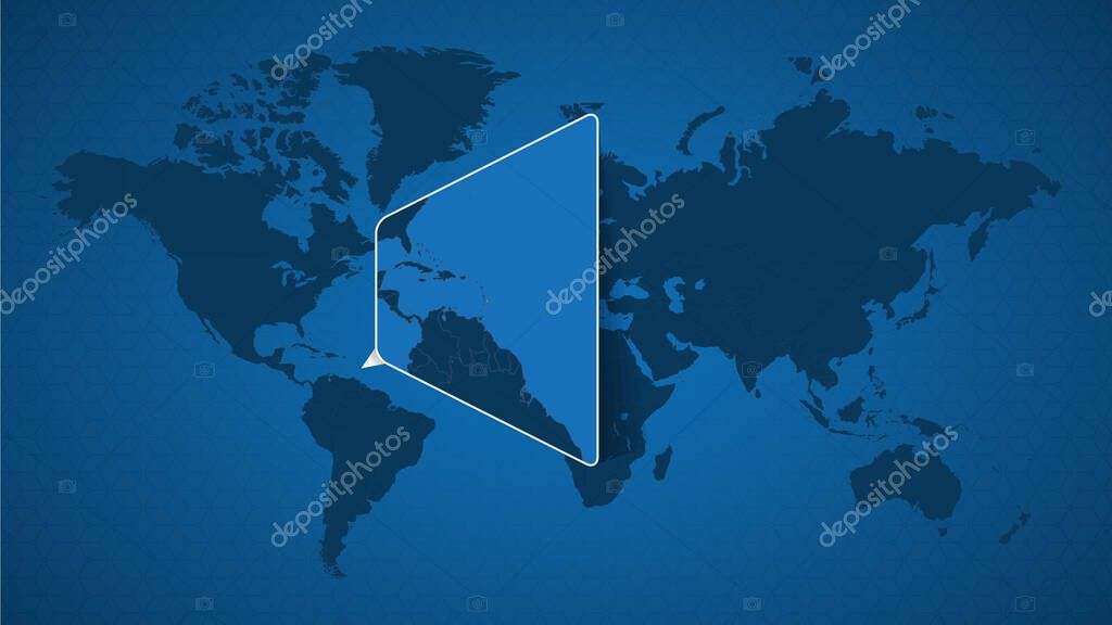 Picture of: Detailed World Map With Pinned Enlarged Map Of Barbados And Neighboring Countries Barbados Flag And Map Premium Vector In Adobe Illustrator Ai Ai Format Encapsulated Postscript Eps Eps Format