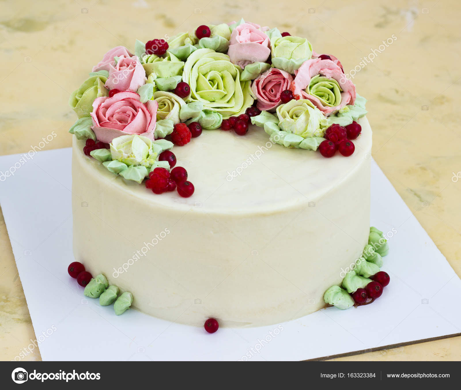 Birthday cake with flowers rose on light background stock photo birthday cake with flowers rose on light background stock photo izmirmasajfo