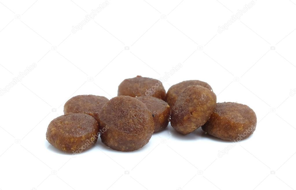 Diat Pille Fur Hunde Auf Weissem Hintergrund Stockfoto C Poungsaed
