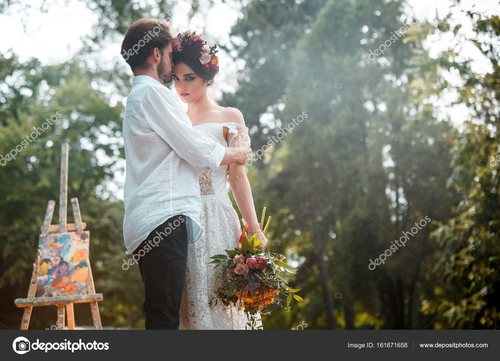 Wedding Decoration In The Style Of Boho Floral Arrangement