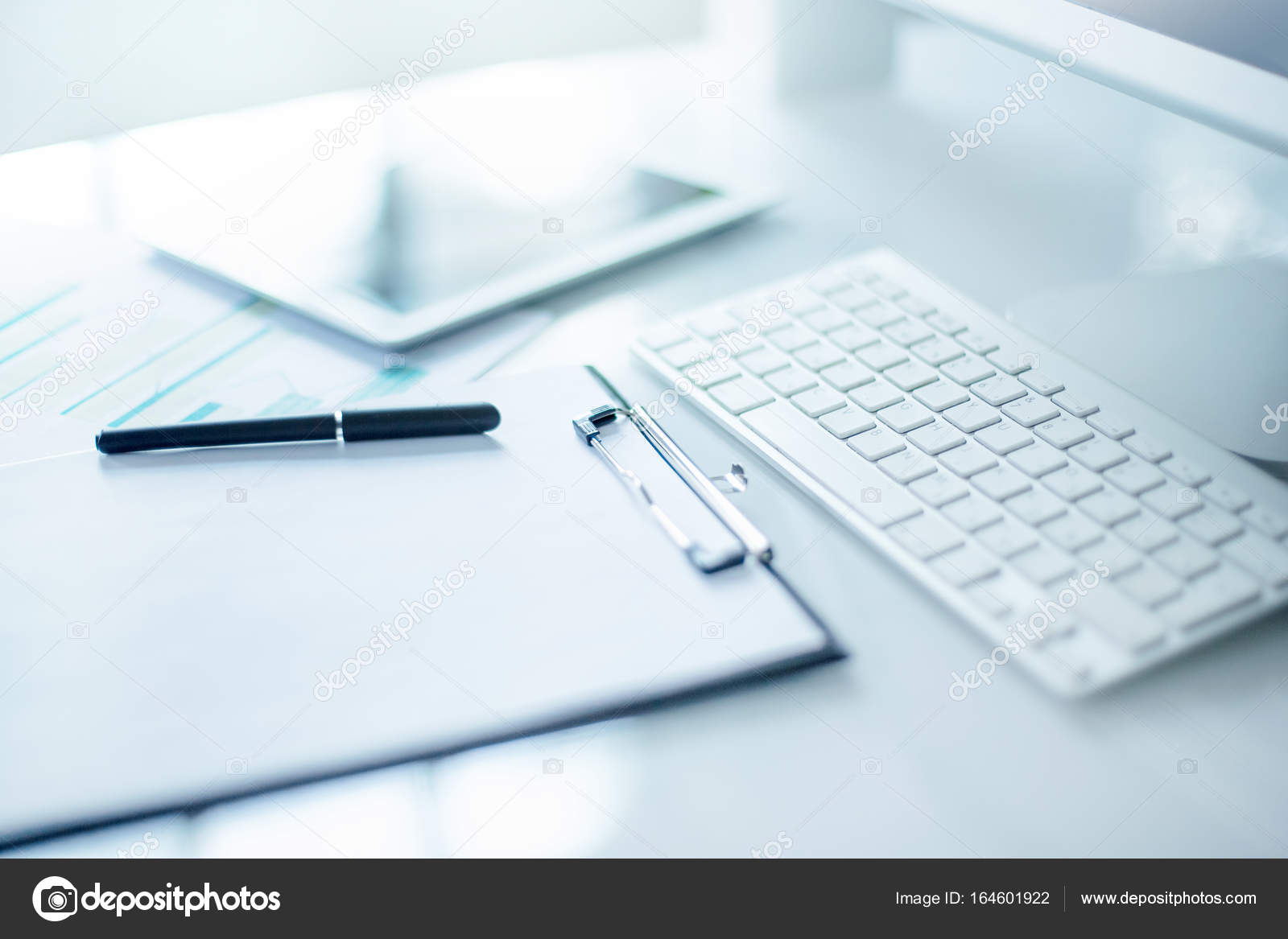 The Abstract Office Desktop Stock Photo