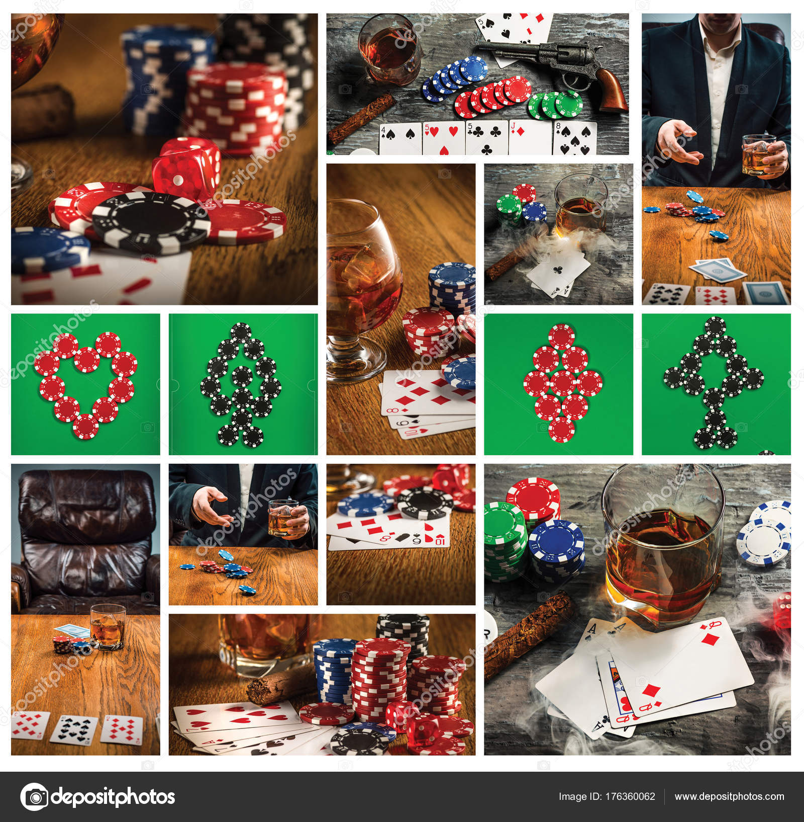 Cigarro Chips Para Juegos Beber Y Jugar A Las Cartas Foto De