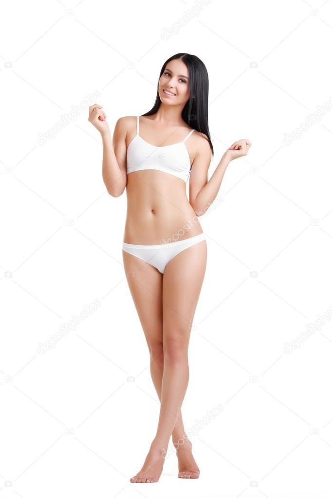 Красивые женщины в нижнем белом белье #1