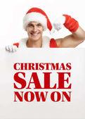 Santa Claus s nápis prodej fitness