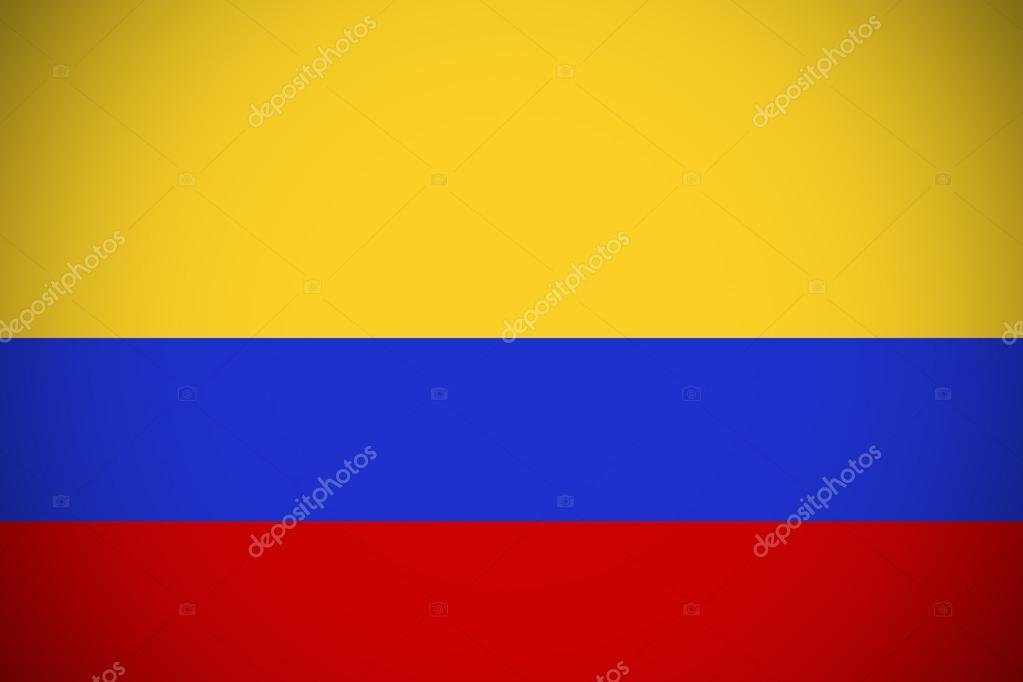 Columbia Flag Columbia National Flag Illustration Symbol Stock