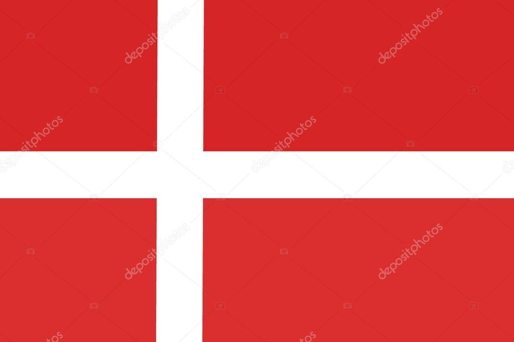Denmark flag ,Denmark national flag illustration symbol. — Stock Photo