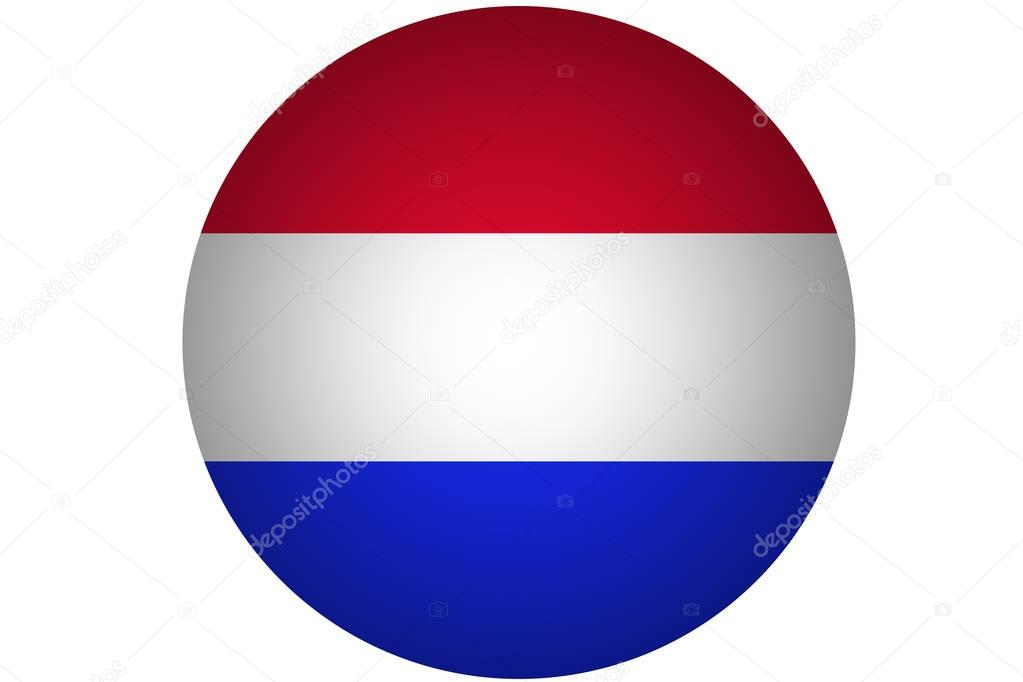 3d Bandiera Olandese Paesi Bassi Bandiera Nazionale Illustrazione