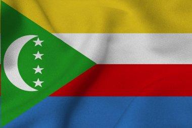 Comoros national flag 3D illustration symbol.