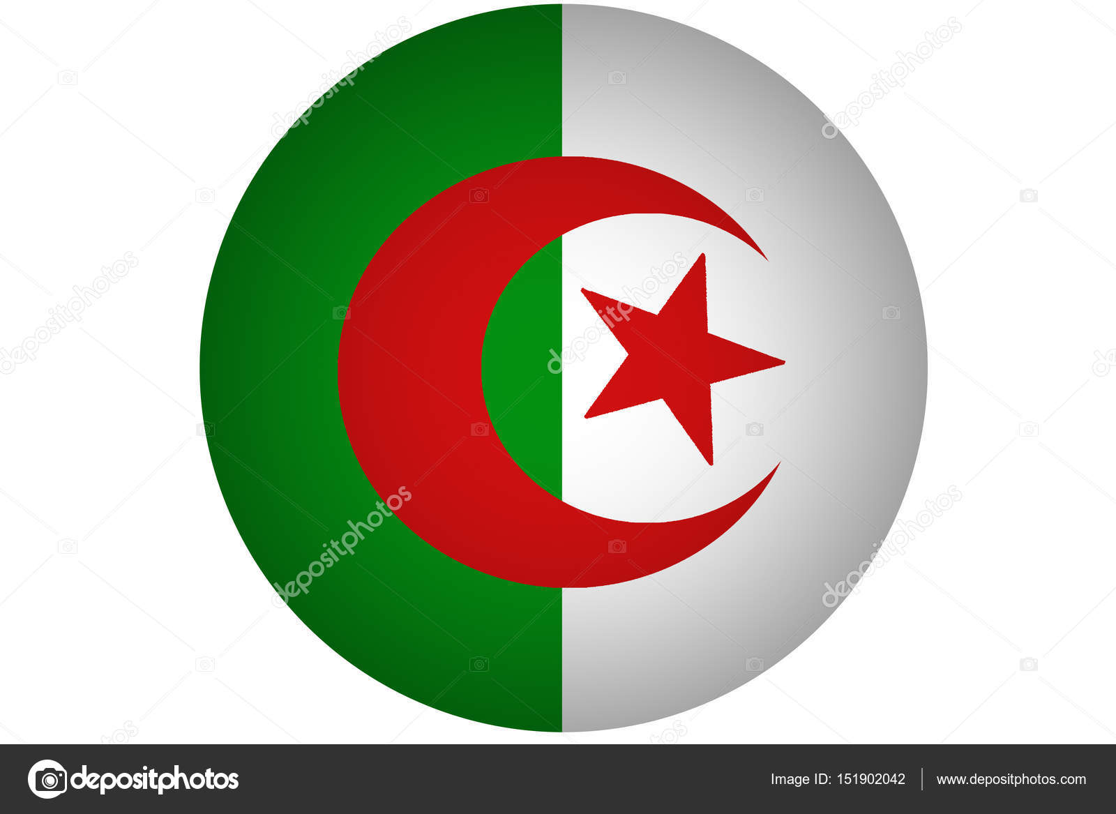 Algeria Flag Vertical