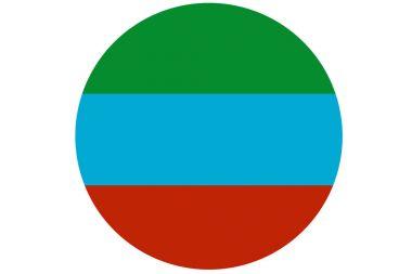 Dagestan republic flag 3D illustration symbol.