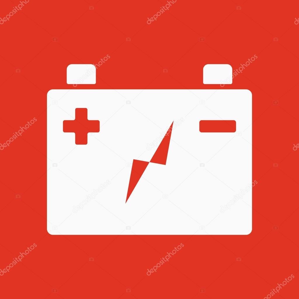 Die Akku-Batterie-Symbol. Leistungs- und elektrisch, Energie, Strom ...
