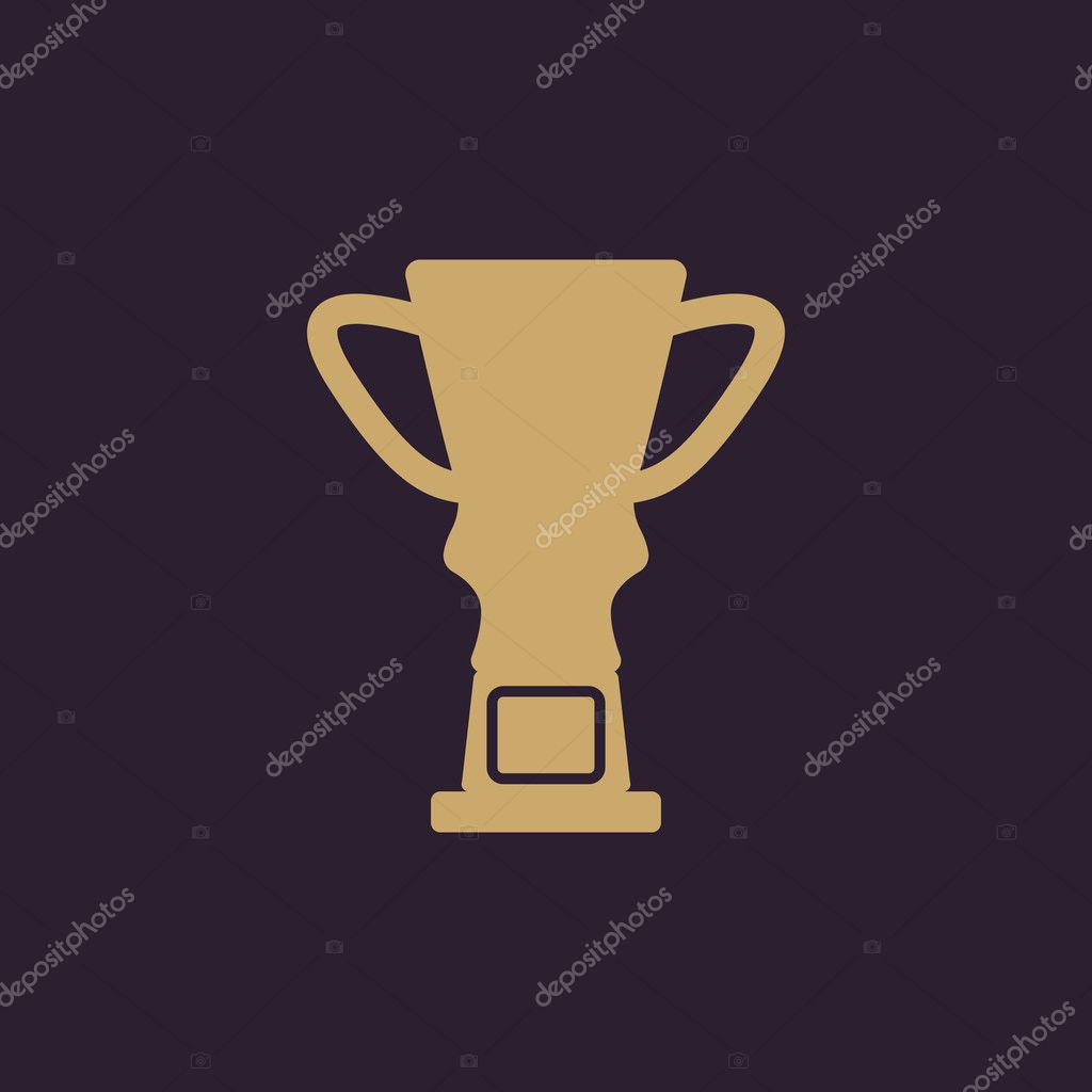 The Trophy Cup Icon Champion Symbol Flat Stock Vector Vladvm