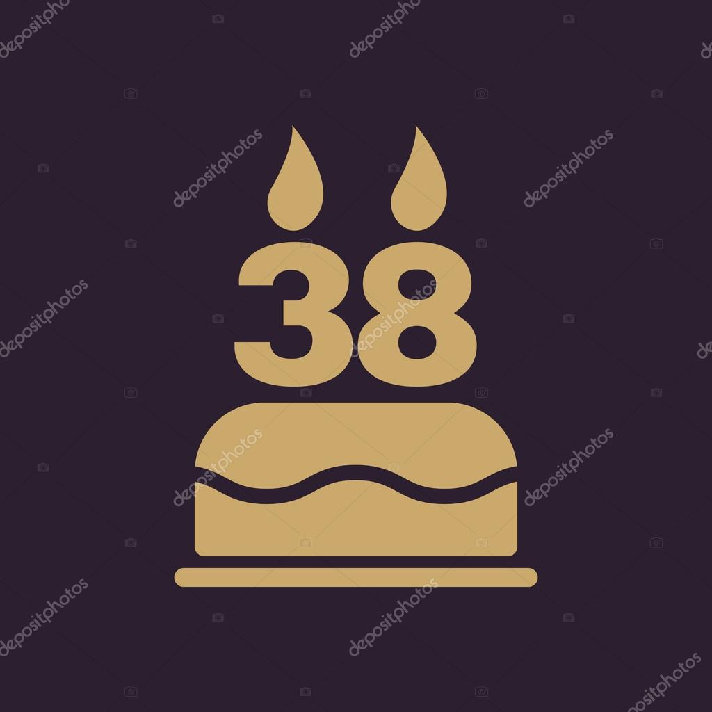 The birthday cake with candles in the form of number 38 icon the birthday cake with candles in the form of number 38 icon birthday symbol biocorpaavc