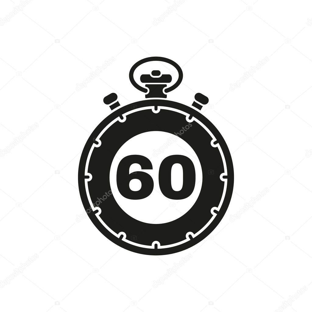 the 60 seconds  minutes stopwatch icon  clock and watch