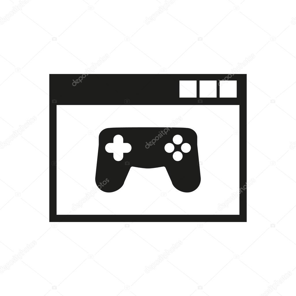 Online games icon. vector design. gaming symbol. web. graphic. JPG ...