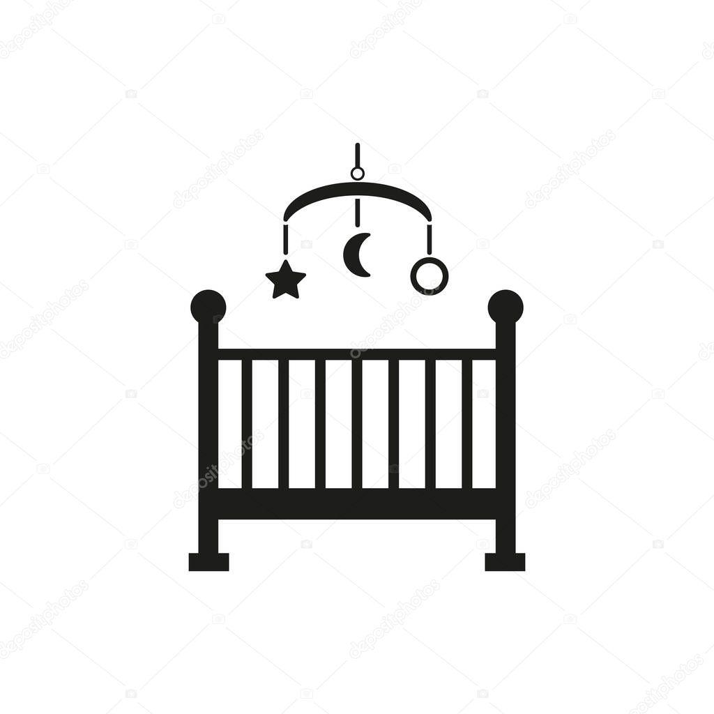 Baby Bed Wieg.Childrens Bed Pictogram Design Baby Bed Wieg En Binnenlandse