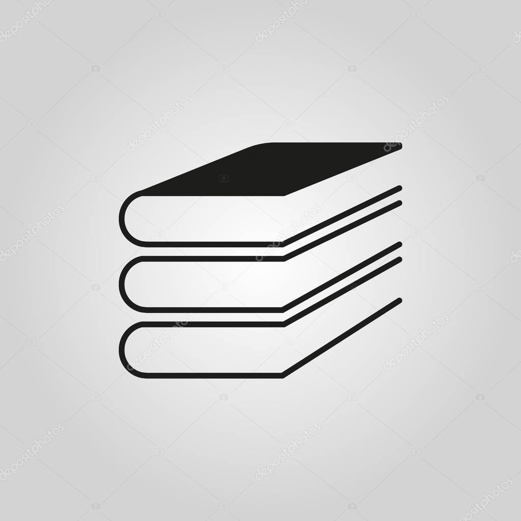 Cone de livro desenho vetorial s mbolo de biblioteca for Logotipos de bibliotecas