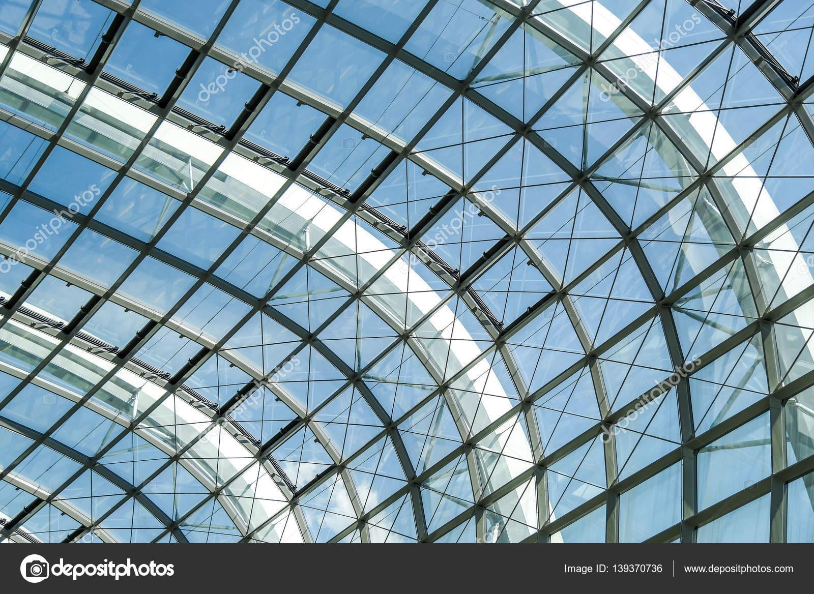 Fachada de cristal estructura acero Resumen — Foto de stock ...
