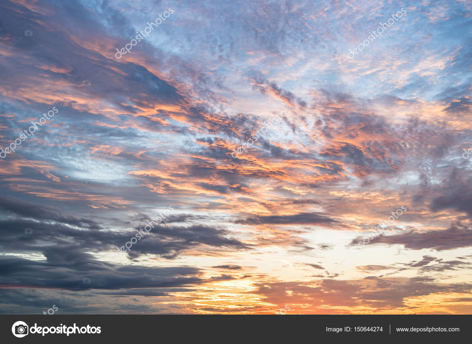 beautiful sunset sky and clouds background stock photo c zephyr18 150644274 https depositphotos com 150644274 stock photo beautiful sunset sky and clouds html